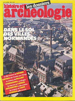 Dossiers d'Archéologie n° 72 - avril 1983