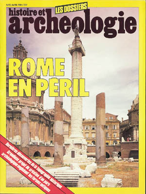 Dossiers d'Archéologie n° 82 - avril 1984