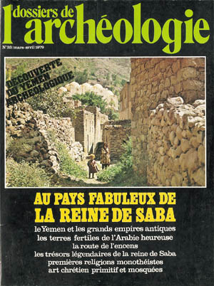 Dossiers d'Archéologie n° 33 - mars/avril 1979